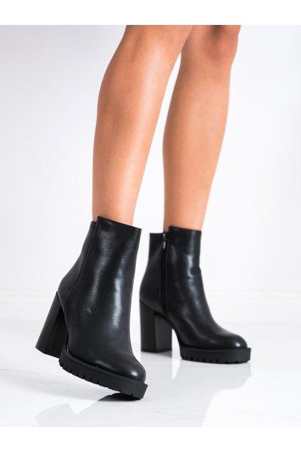 Čierne dámske topánky Lovery kod CH19153B