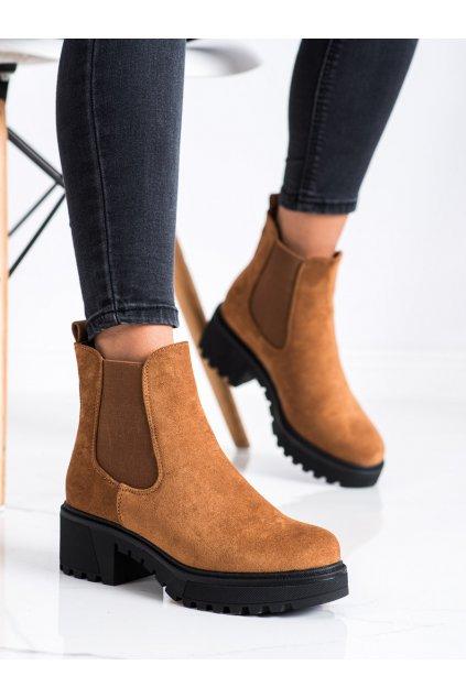 Hnedé dámske topánky Seastar kod NS158C