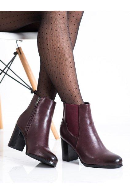 Červené dámske topánky Renda kod 8998-33WI