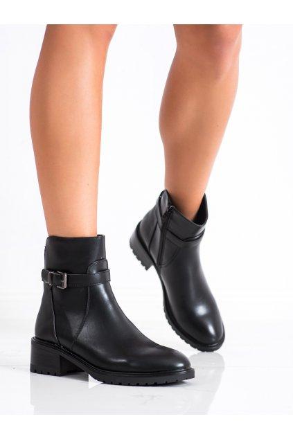 Čierne dámske topánky Lovery kod CH2016B