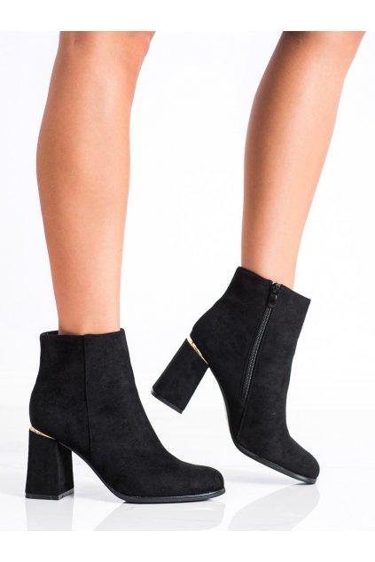 Čierne dámske topánky Shelovet kod S9AX8881B