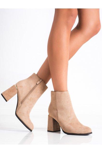 Hnedé dámske topánky Shelovet kod S9AX8881BE