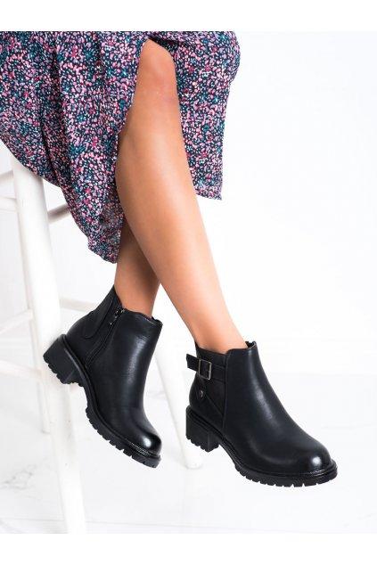 Čierne dámske topánky Renda kod 8998-16B