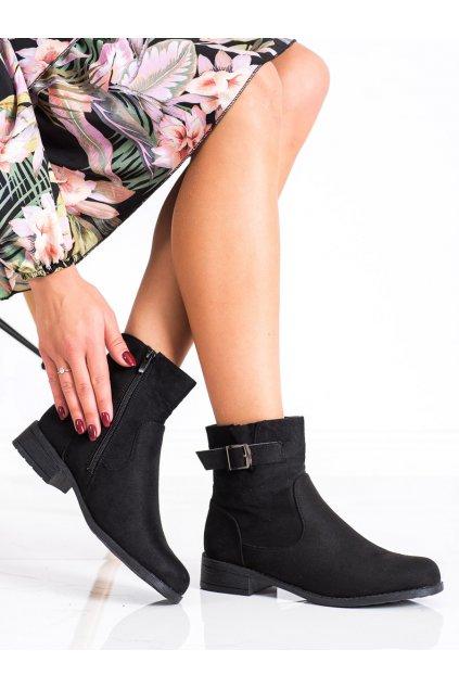 Čierne dámske topánky Shelovet kod E2151B