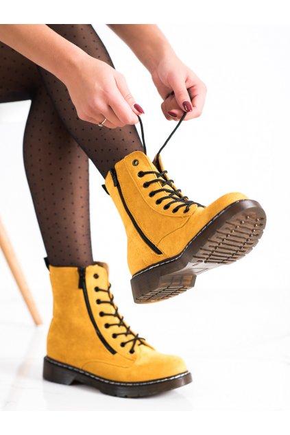 Žlté dámske topánky Shelovet kod XJ-48Y
