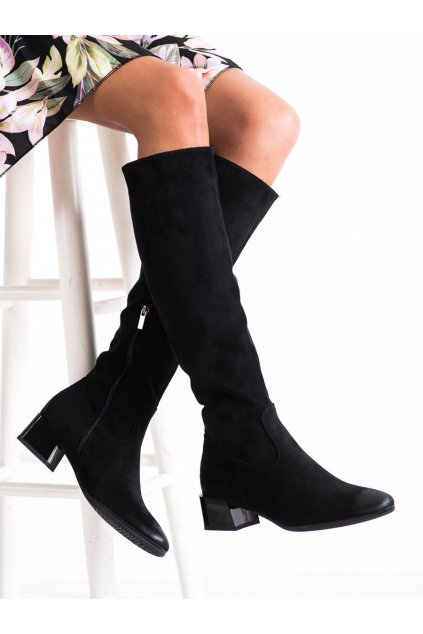 Čierne dámske čižmy Vinceza kod XY22-10641B