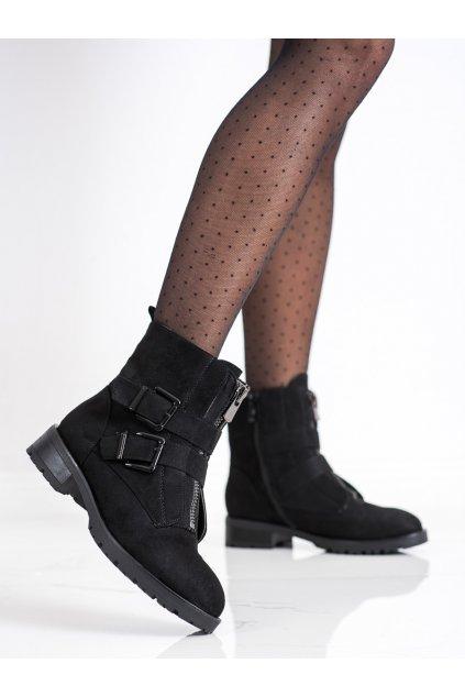 Čierne dámske topánky Cm paris kod 688-47B