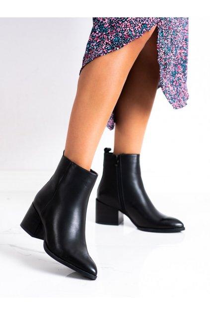 Čierne dámske topánky Lovery kod 9543B