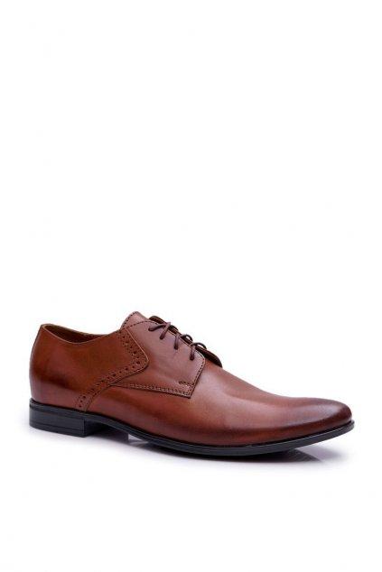 Pánske poltopánky farba hnedá kód obuvi 711 BRĄZ