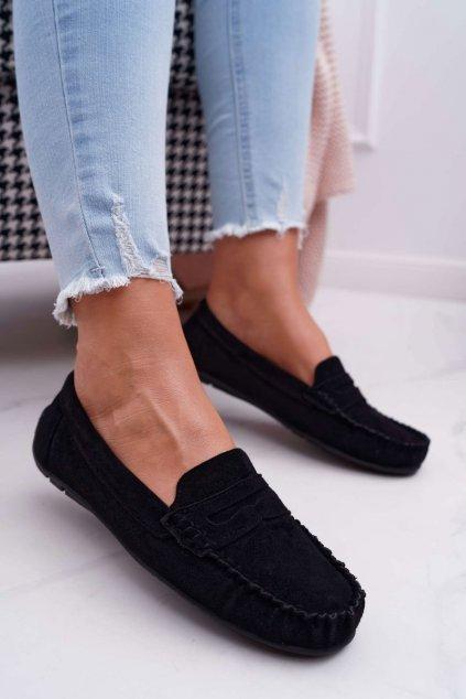 Dámske mokasíny farba čierna kód obuvi T348 BLK