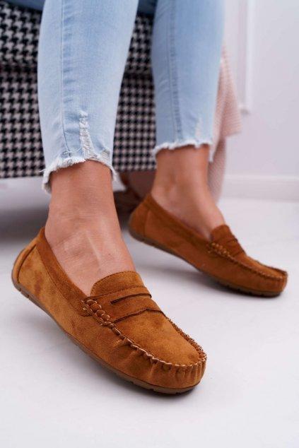 Dámske mokasíny farba hnedá kód obuvi T348 CAMEL