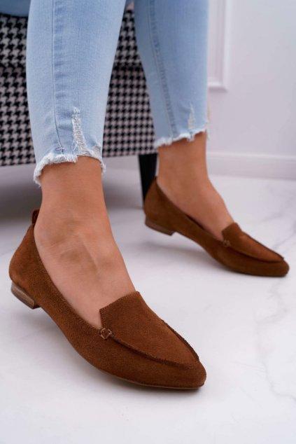 Dámske mokasíny farba hnedá kód obuvi 2462 KONIAK/W