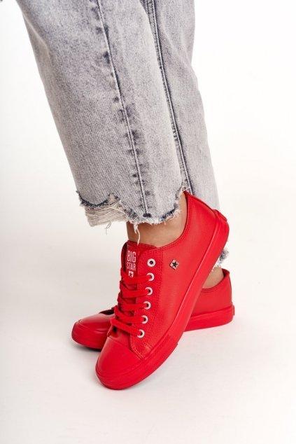 Dámske tenisky farba červená kód obuvi V274872 RED