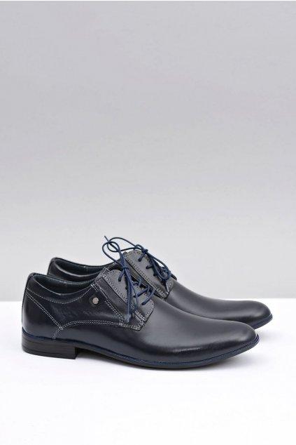 Pánske poltopánky farba modrá kód obuvi 850 NAVY