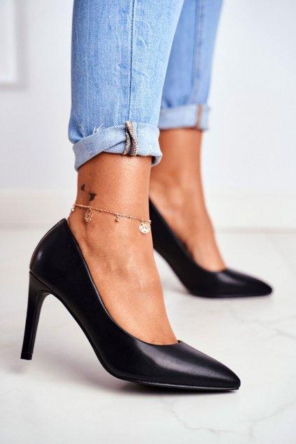 Dámske lodičky farba čierna kód obuvi 20-20110 BLK