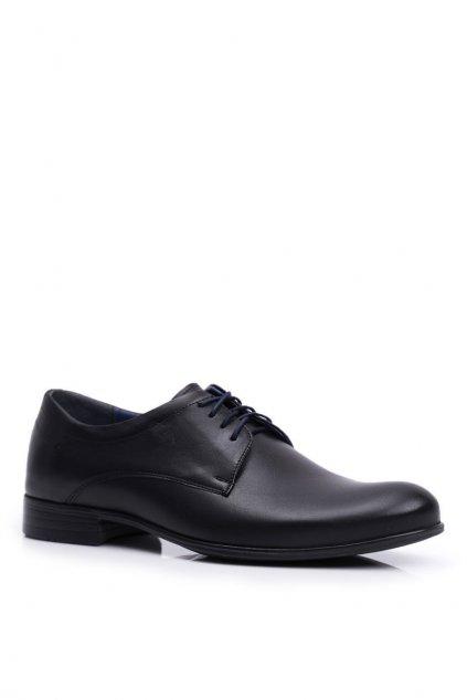 Pánske poltopánky farba čierna kód obuvi 1738 BLK D4
