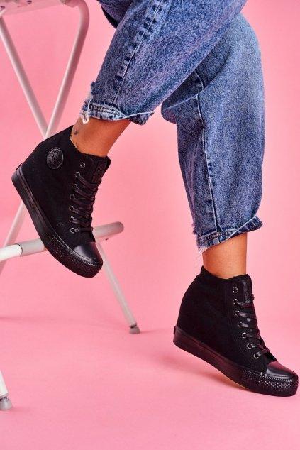 Dámske tenisky farba čierna kód obuvi FF274A191 BLK