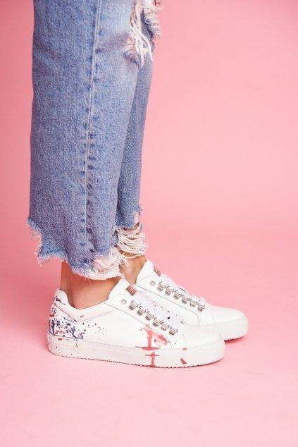 Dámske tenisky farba biela kód obuvi FF2N3027 WHITE