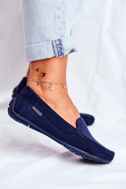 Dámske mokasíny farba modrá kód obuvi 20PB26-2190 NAVY