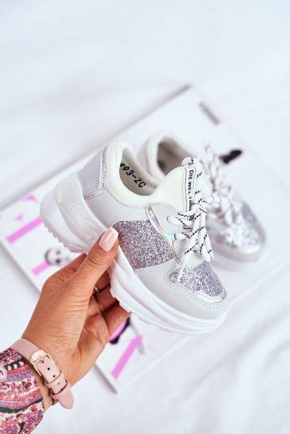 Dámske tenisky farba sivá kód obuvi 893-C SILVER