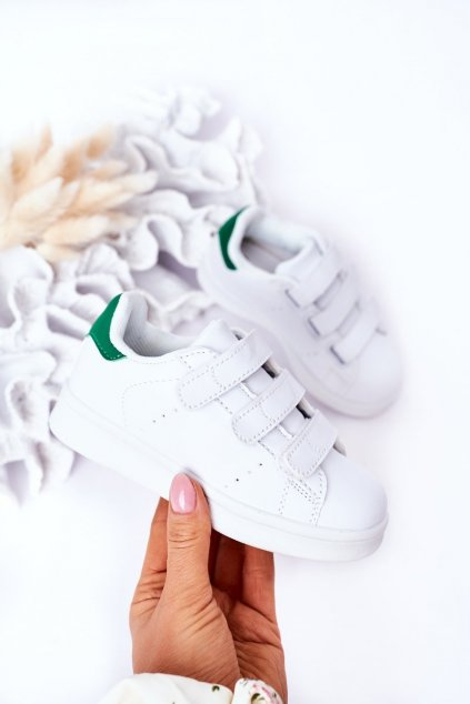 Detské tenisky farba biela kód obuvi 902-AA WHITE/GREEN