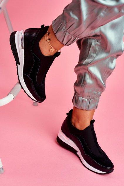 Dámske tenisky farba čierna kód obuvi SG20-7769 BLK
