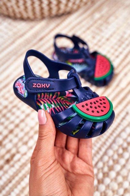 Detské sandále farba modrá kód obuvi FF385013 NAVY BLUE