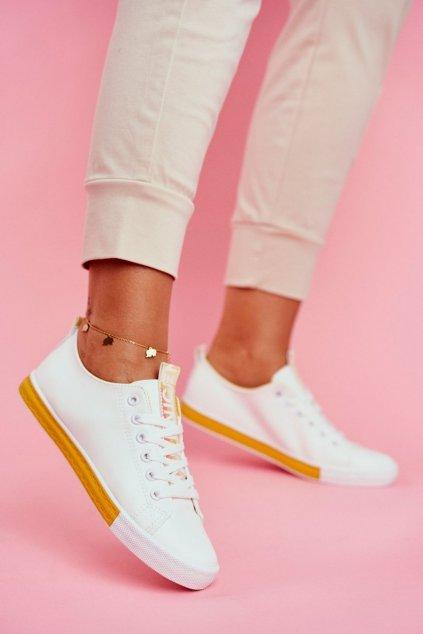 Dámske tenisky farba žltá kód obuvi LA70 YELLOW
