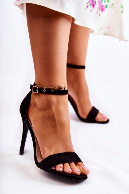 Dámske sandále farba čierna kód obuvi GG-86 BLK