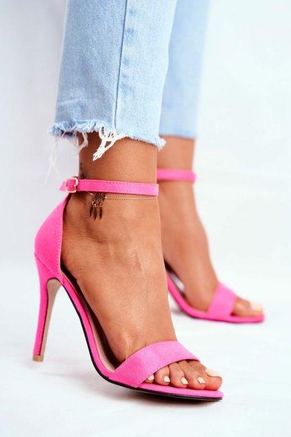 Dámske sandále farba ružová kód obuvi GG-86 FUCHSIA