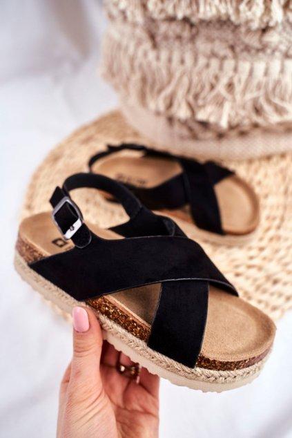 Detské sandále farba čierna kód obuvi FF374168 BLK