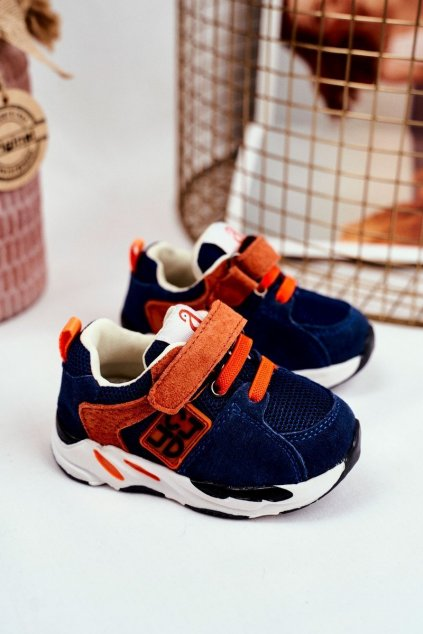 Detské tenisky farba modrá kód obuvi KC28 NAVY
