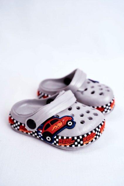 Detské šľapky farba sivá kód obuvi JHCG20-GY1994D GREY