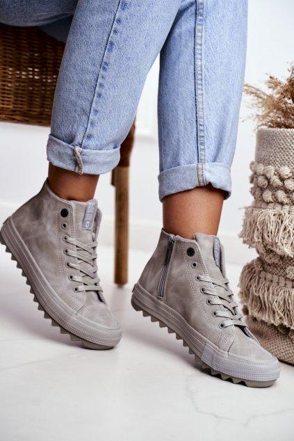 Dámske tenisky farba sivá kód obuvi GG274070 GREY