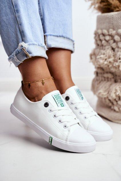 Dámske tenisky farba biela kód obuvi GG274006 WHITE/GREEN