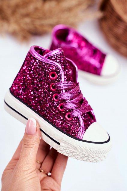 Detské tenisky farba ružová kód obuvi 80092-B FUCHSIA/ ROSE