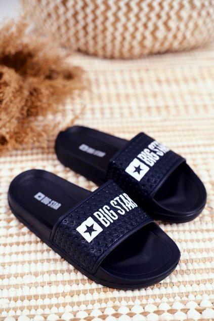 Detské šľapky farba modrá kód obuvi GG374802 NAVY