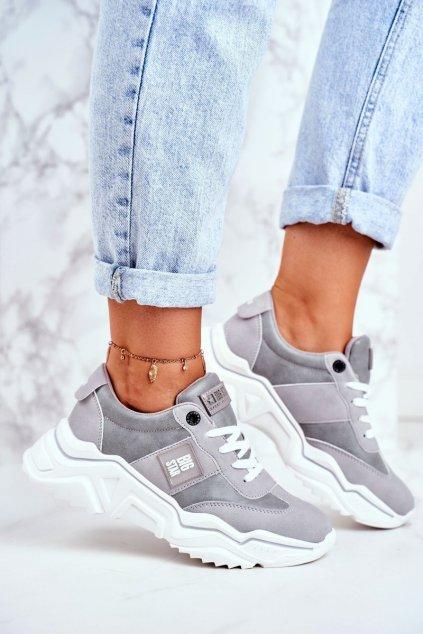 Dámske tenisky farba sivá kód obuvi GG274211 GREY