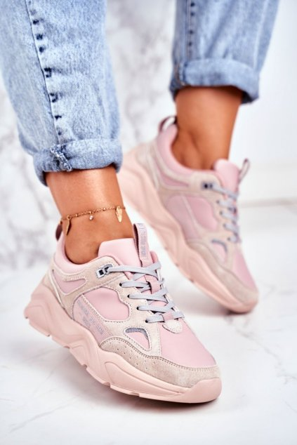 Dámske tenisky farba ružová kód obuvi GG274655 PINK