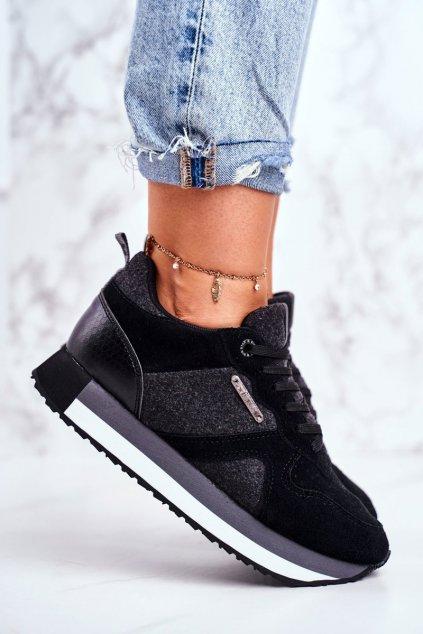 Dámske tenisky farba čierna kód obuvi GG274464 BLK