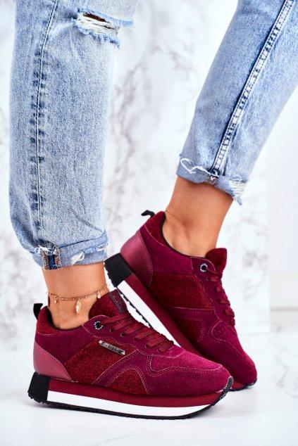Dámske tenisky farba červená kód obuvi GG274462 BORDO