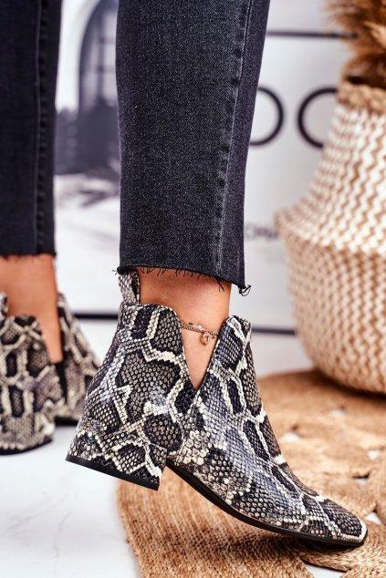 Členkové topánky na podpätku farba hnedá kód obuvi 2625804/697 TIROS NERO