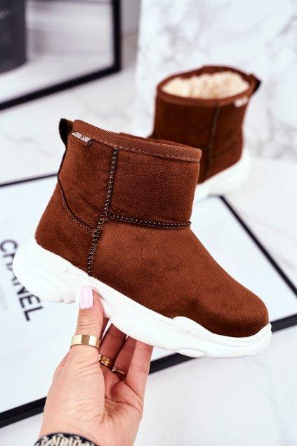 Detské snehule farba hnedá kód obuvi GG374086 CAMEL
