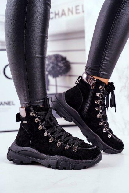 Dámske trekové topánky farba čierna kód obuvi GG274893 BLK