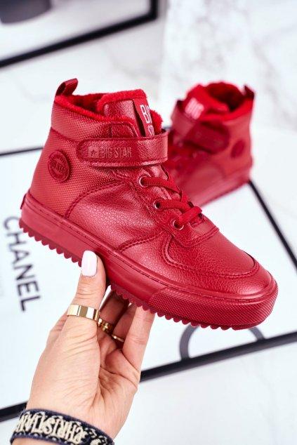 Detské tenisky farba červená kód obuvi GG374042 RED