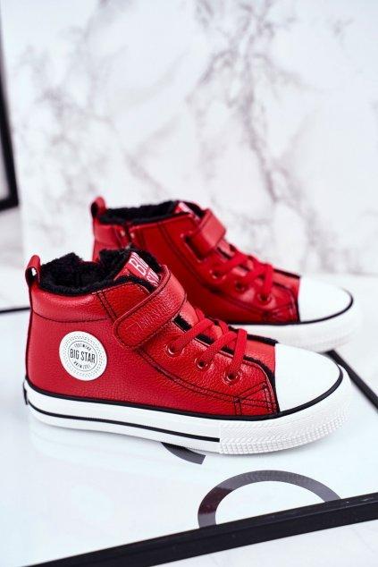 Detské tenisky farba červená kód obuvi GG374034 RED