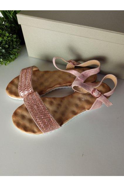 Dámske ružové sandále NJSK HT-69