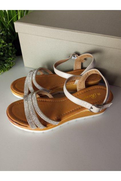 Hnedé sandále NJSK 860-24BE