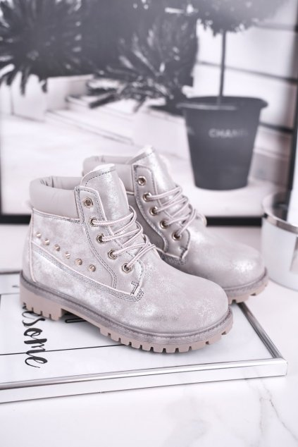 Detské členkové topánky farba sivá kód obuvi HYT002-19 SILVER