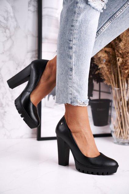 Dámske lodičky farba čierna kód obuvi 02629-01 CZARNY